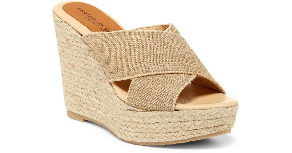 38d0507df43 Lyst - Patricia Green Nora Espadrille Wedge Sandal