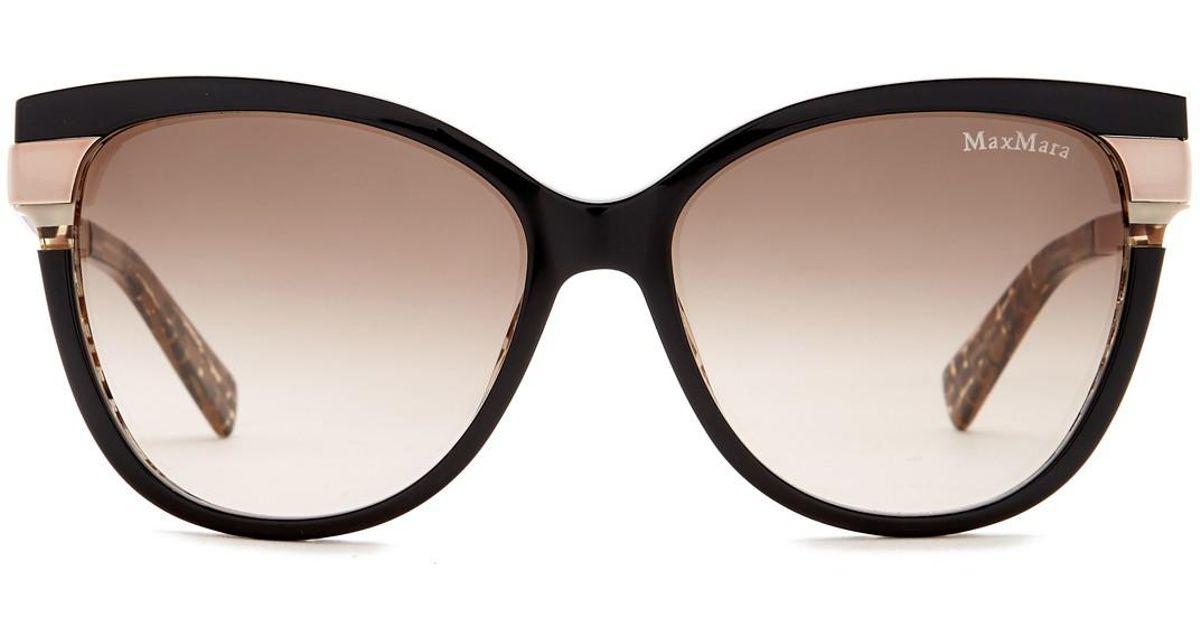 2164615f3e69 Max Mara Layer 56mm Cat Eye Sunglasses in Brown - Lyst