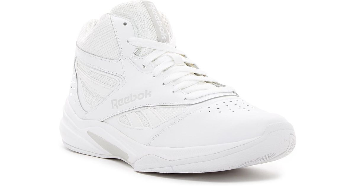 21a58b3081d3f Lyst - Reebok Pro Heritage 1 Mid Basketball Sneaker in White for Men