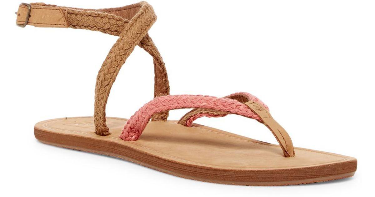 00cf26a55c327d Lyst - Reef Gypsy Wrap Blush Sandal (women) in Brown