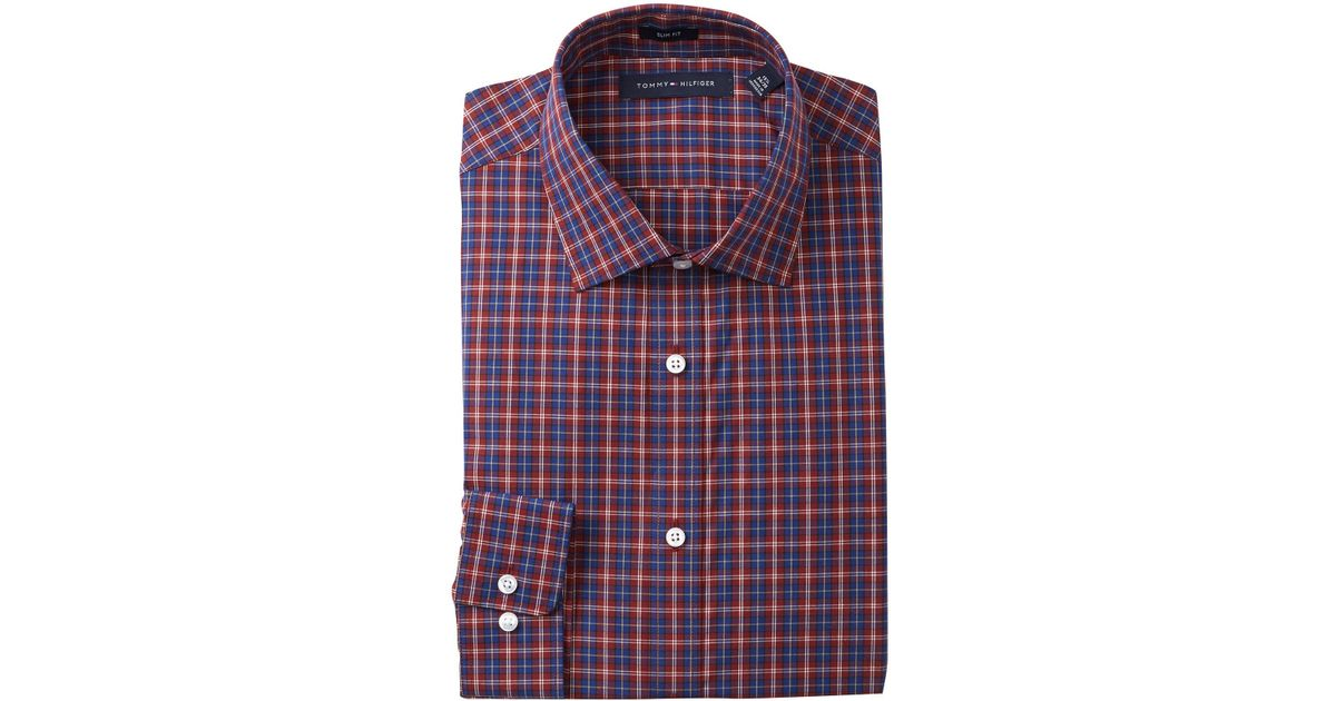 a8802ff14cee Lyst - Tommy Hilfiger Plaid Howard Slim Fit Dress Shirt for Men