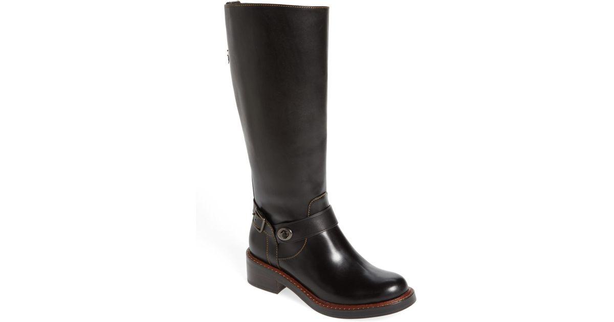 49dd2e97cef8 Lyst - COACH Womens Sutton Leather Round Toe Knee High Fashion Boots in  Black