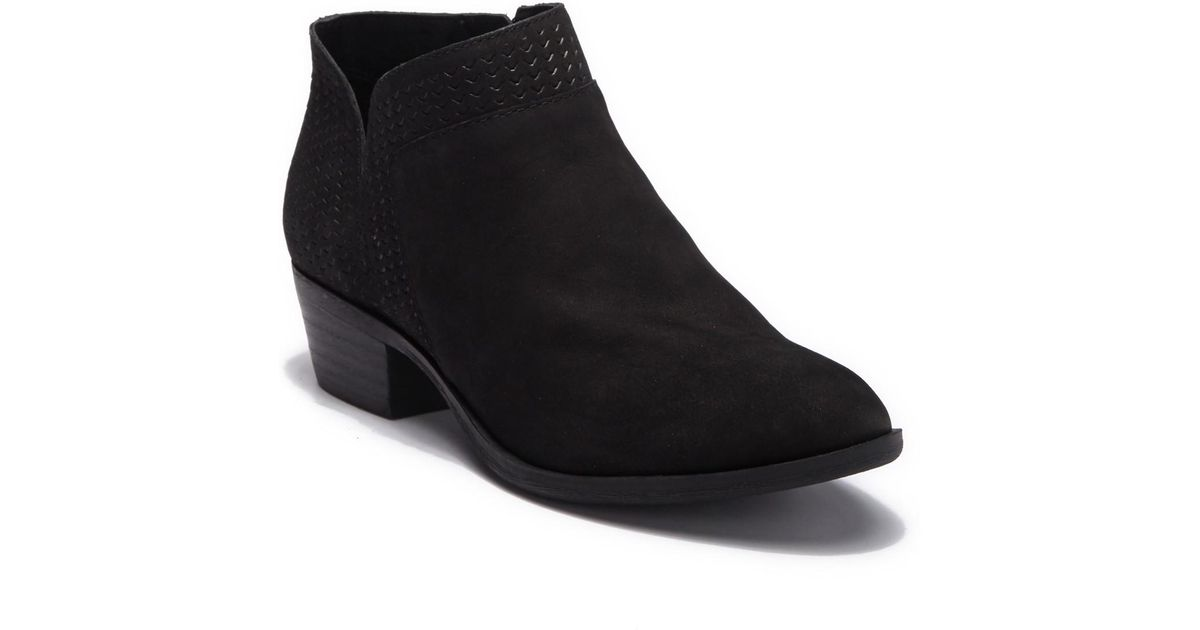 88ed1bdd1b893 Lucky Brand - Black Brintly Leather Ankle Bootie - Lyst