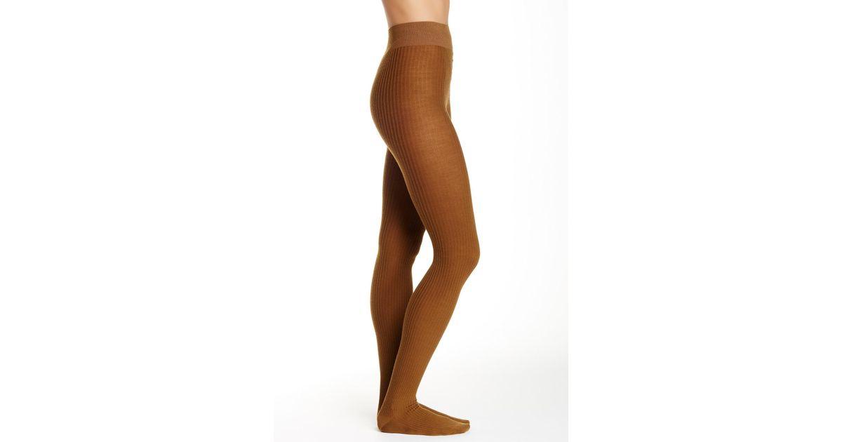 d426f36f83566 Lyst - Falke Soft Merino Wool Blend Tights in Brown