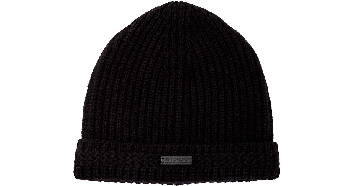 Lyst - Belstaff Seabrook Knit Hat in Black for Men b6ec08d7287
