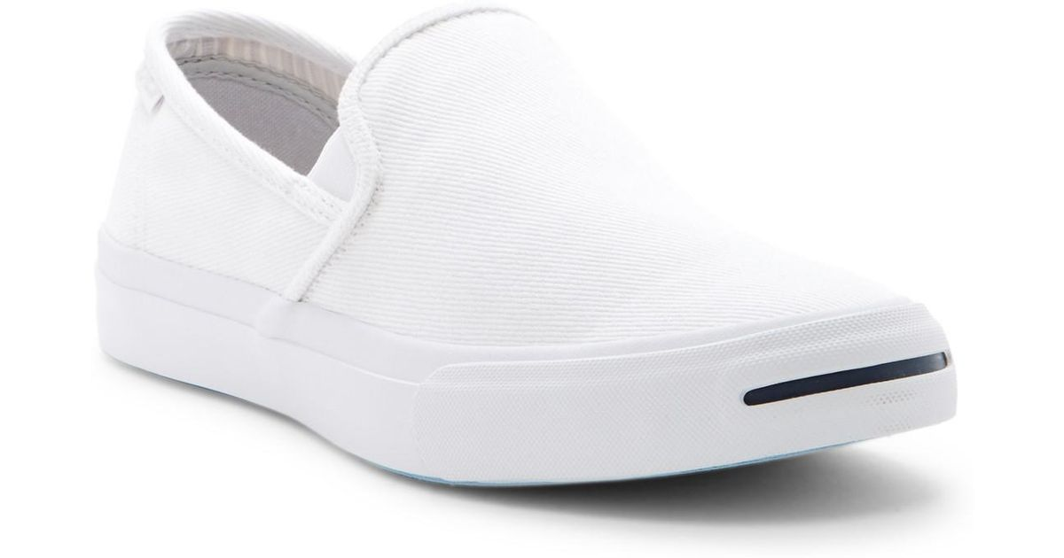 Lyst - Converse Jack Purcell Ii Slip-on Sneaker (unisex) in White 191d4e575