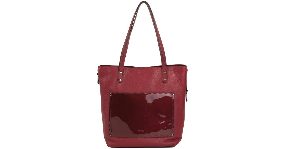 b765cbd419bd Lyst - Perlina Judi Leather Tote in Red