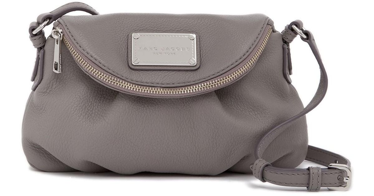 99c89051caa1 Lyst - Marc Jacobs Classic Mini Leather Messenger Bag in Gray