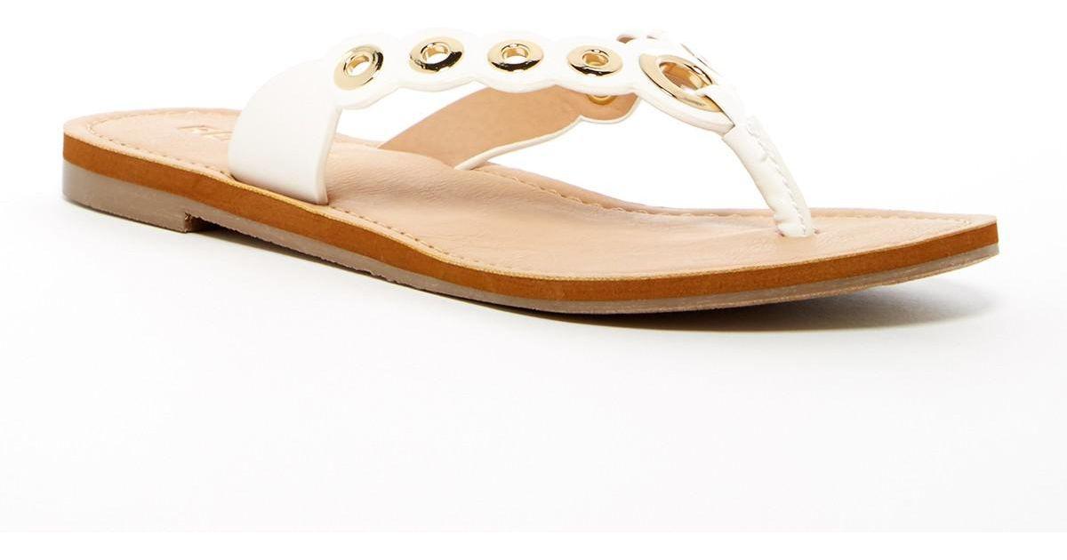 3581aabcf Lyst - Report Slone Flip Flop Sandal in White