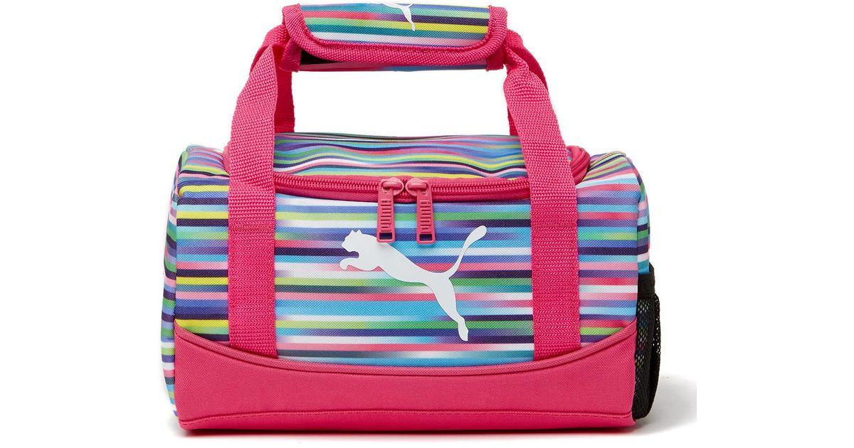 Lyst - PUMA Mini Duffel Bag Lunch Box in Pink 8ad02cbc28d21