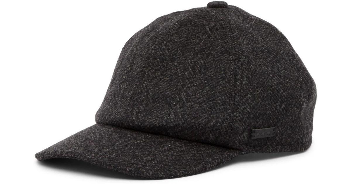 Lyst - John Varvatos Baseball Merino Wool Hat in Black for Men 7ce0c4e9209