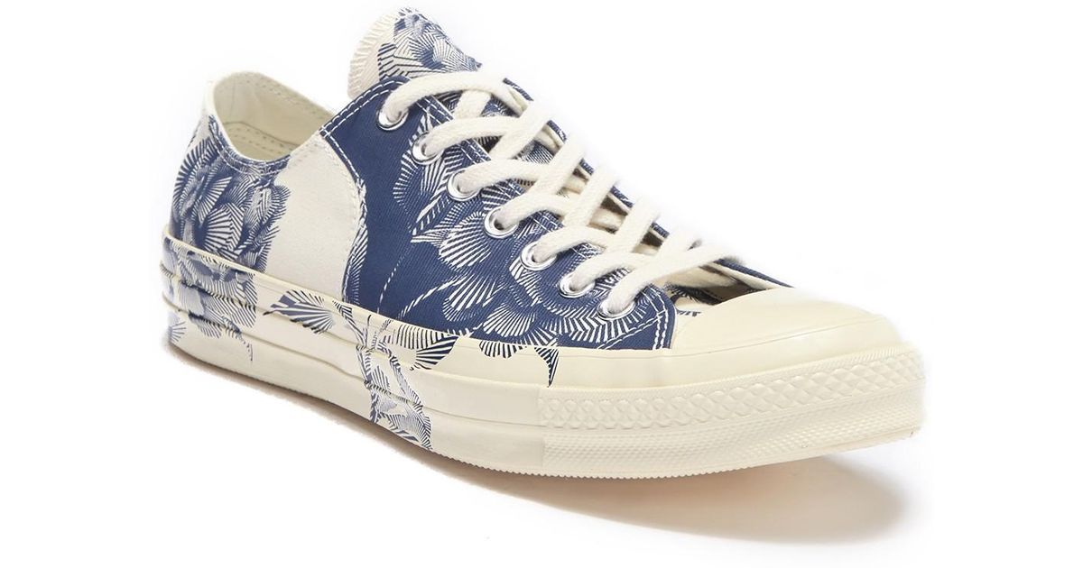 5dc084b0dddc Lyst - Converse Chuck 70 Block Ox Printed Sneaker in Blue for Men