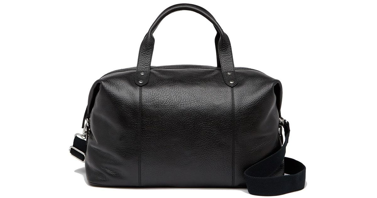 56a0687c3f Cole Haan Saunders Leather Duffel Bag in Black for Men - Lyst