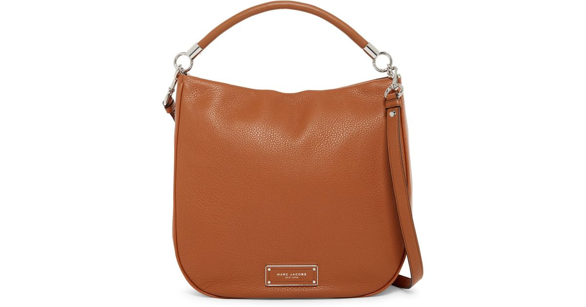 00439b66e988 Lyst - Marc Jacobs Too Hot To Handle Leather Hobo Bag in Brown