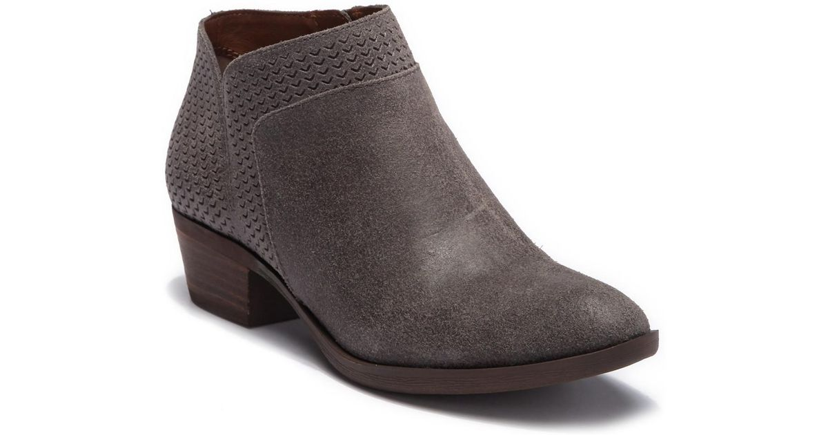 1311c4aa7b72b Lucky Brand - Brown Brintly Leather Ankle Bootie - Lyst
