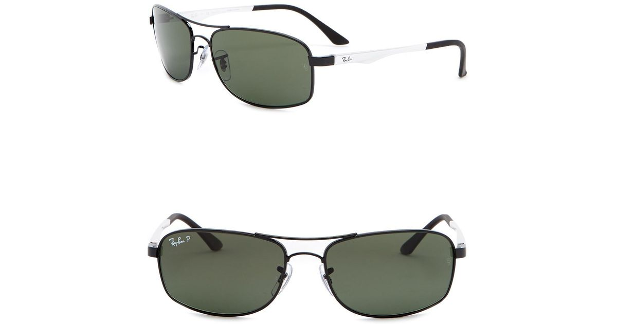 2b1db42638a2 Lyst - Ray-Ban Active Lifestyle Polarized 60mm Pilot Sunglasses in Black  for Men
