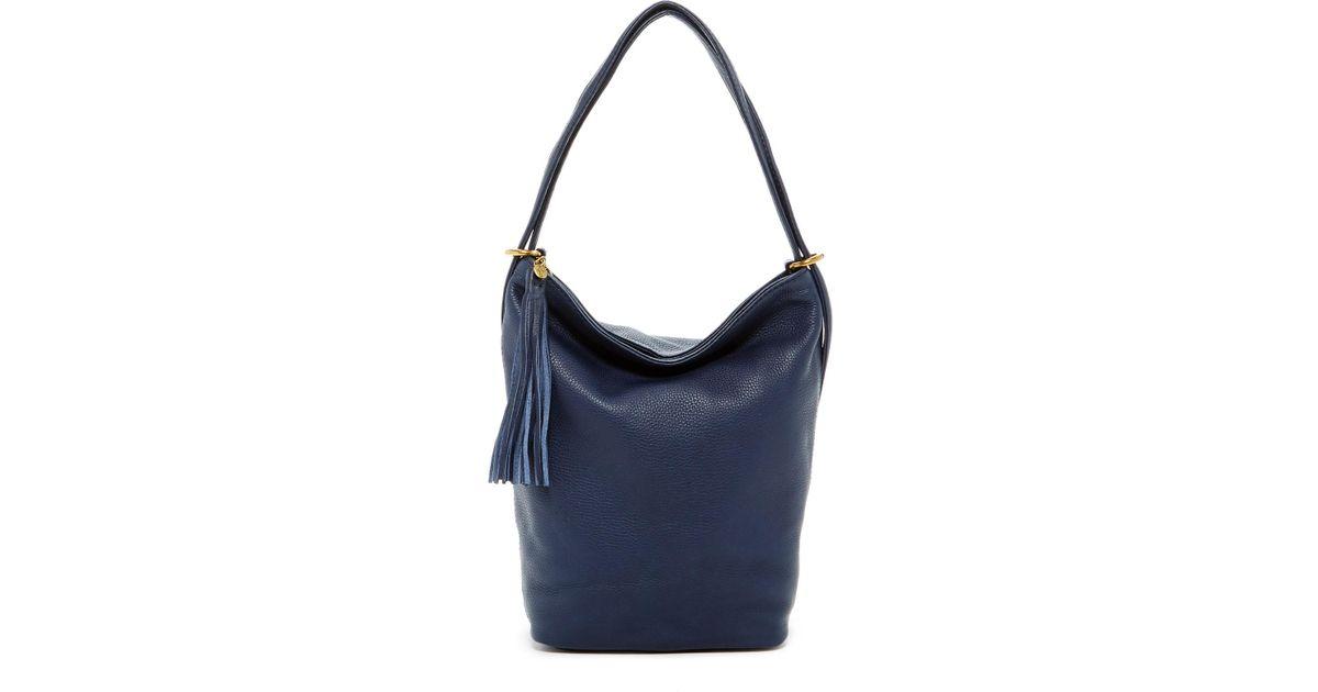 0f0518f585c8 Lyst - Hobo Blaze Leather Backpack shoulder Bag in Blue