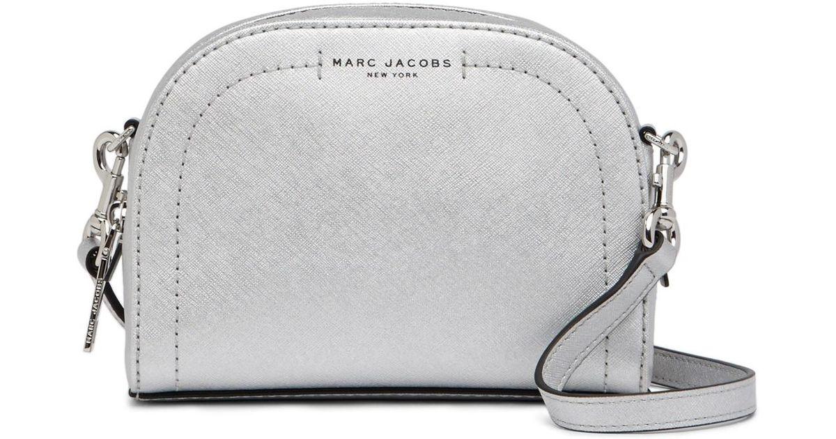 f8c1cb0dd2 Marc Jacobs Playback Metallic Leather Crossbody Bag in Metallic - Lyst