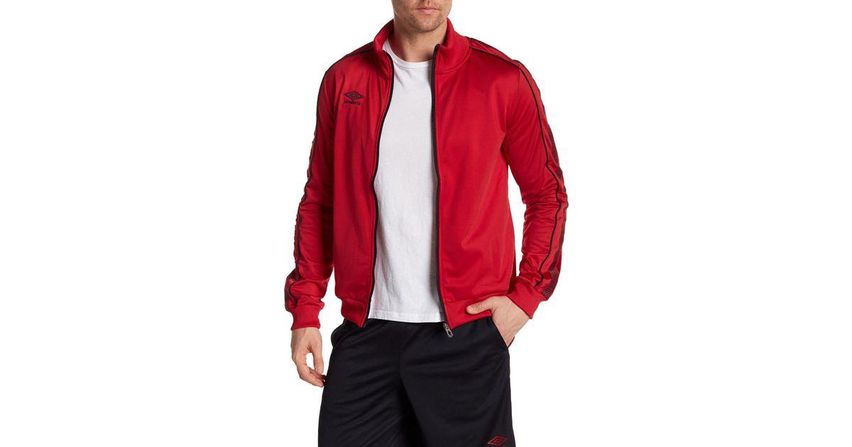 Lyst - Umbro Zip-up Diamond Jacket in Red for Men c841895555a23