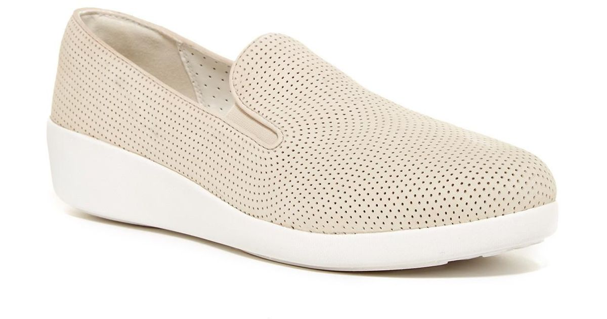 019f006618f Lyst - Fitflop F-pop Skate Perforated Sneaker in White