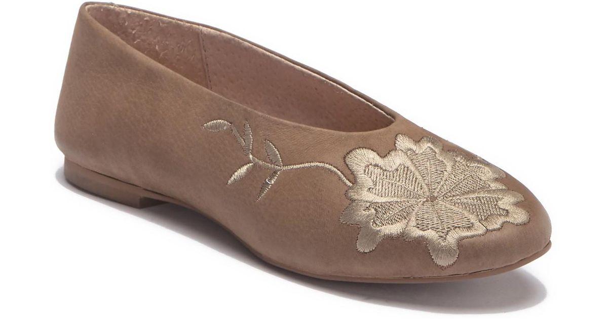 5d22437123a98c Lyst - Seychelles Campfire Embroidered Flat in Brown