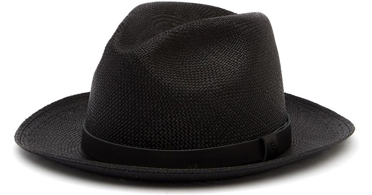 08fcabe3310 Lyst - Frye Addison Panama Hat in Black for Men