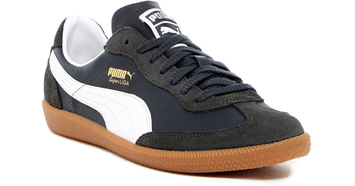 9ff174240ea Lyst - PUMA Super Liga Og Retro Leather Sneaker in Blue for Men