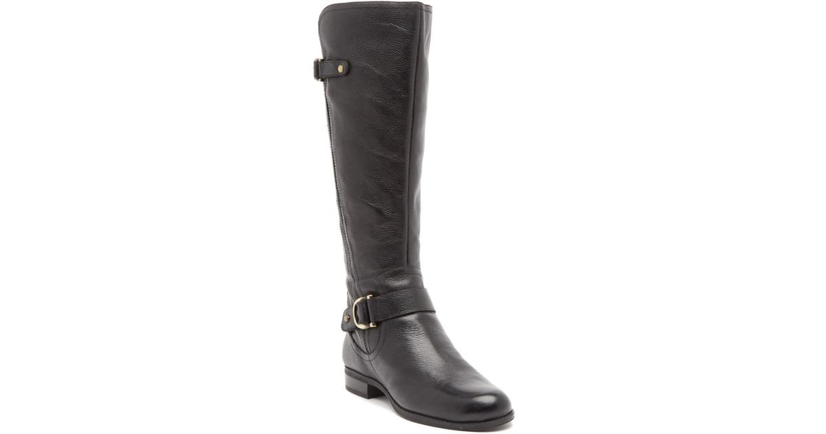 1b49eb24b20 Lyst - Naturalizer Jillian Knee High Leather Boot - Wide Width Available in  Black