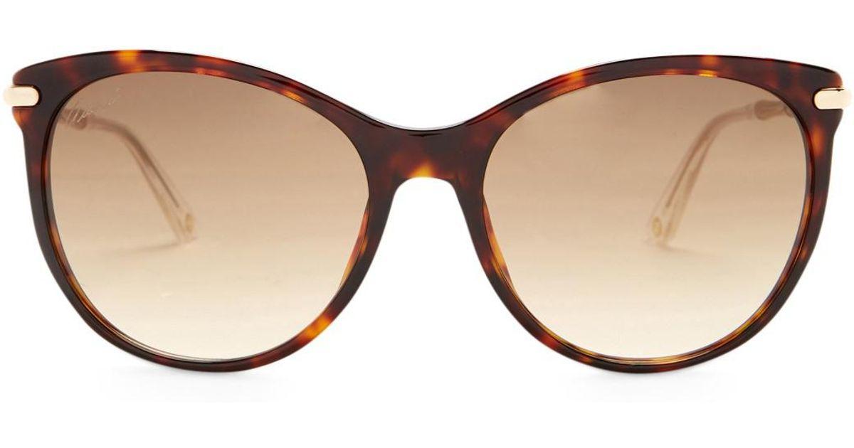 a82a41bc2c5 Lyst - Gucci Women s Retro Acetate Frame Sunglasses in Brown
