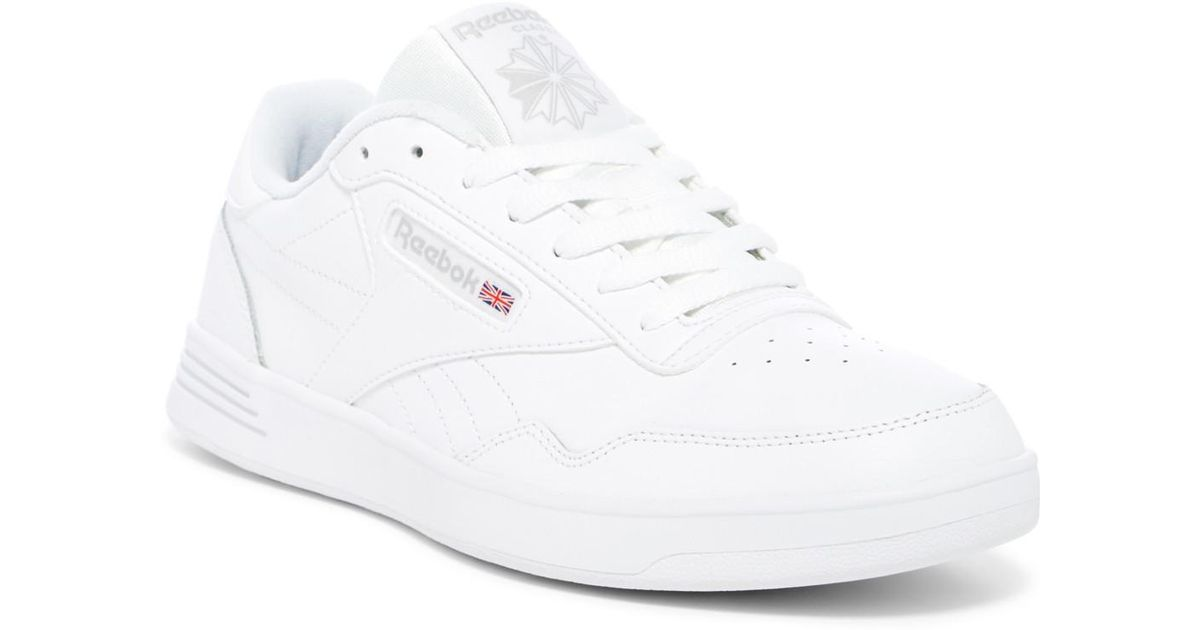 129aa3fdc0f1 Lyst - Reebok Classic Club Memt Leather Sneaker - Wide Width in White for  Men