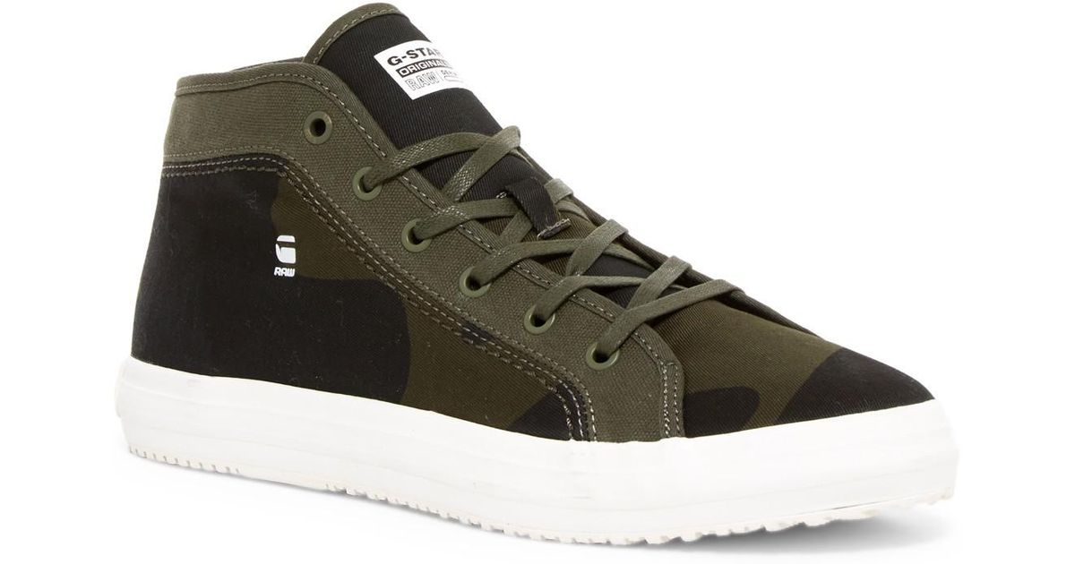lyst g star raw kendo mid camo sneaker for men. Black Bedroom Furniture Sets. Home Design Ideas