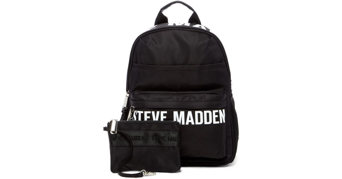 Steve Madden Placement Print Nylon Backpack In Black Lyst