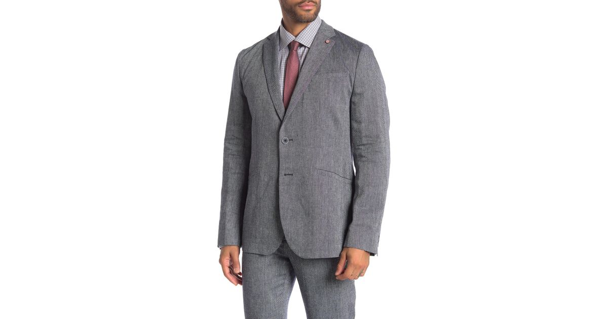 93435ef6f Lyst - Ted Baker Hines Woven Tall Fit Suit Jacket in Blue for Men