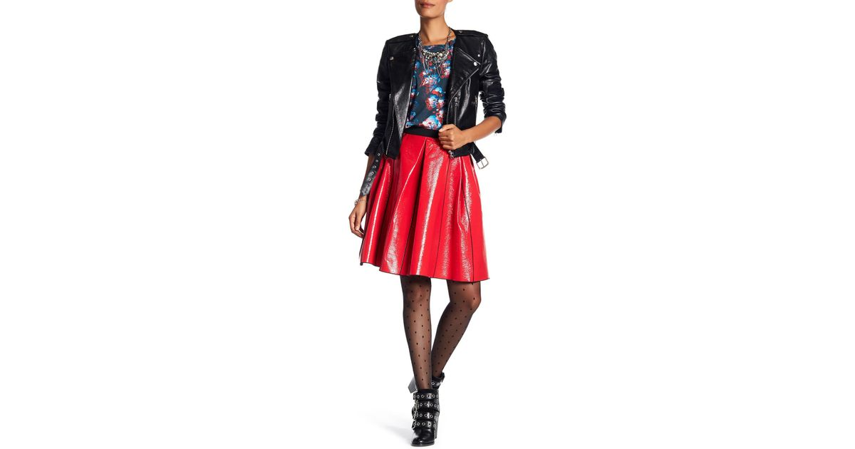 b89873bb31 Lyst - Marc Jacobs Coated Faux Pleather Skirt in Red
