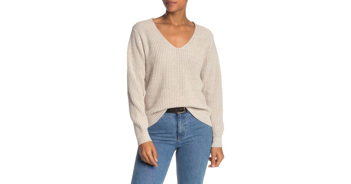 Elan Melange Crewneck Sweater with Front Zips