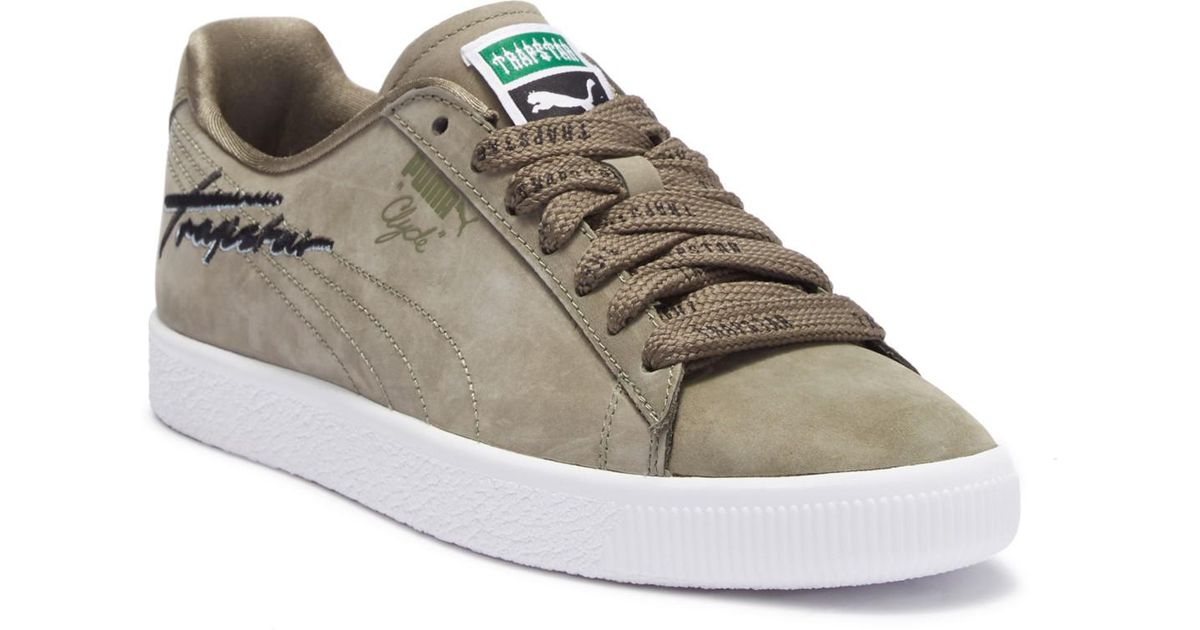23f8c34b061a Lyst - Puma X Trapstar Clyde Bold Suede Sneaker in Green