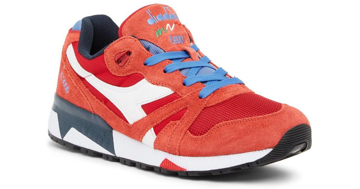 0b5a1594f9 Lyst - Diadora N9000 Iii Nylon   Suede Sneaker in Red for Men