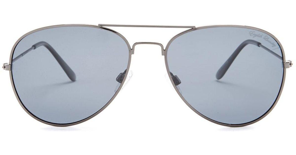 5becd2d207cb Lyst - English Laundry Men's Aviator Polarized Sunglasses for Men