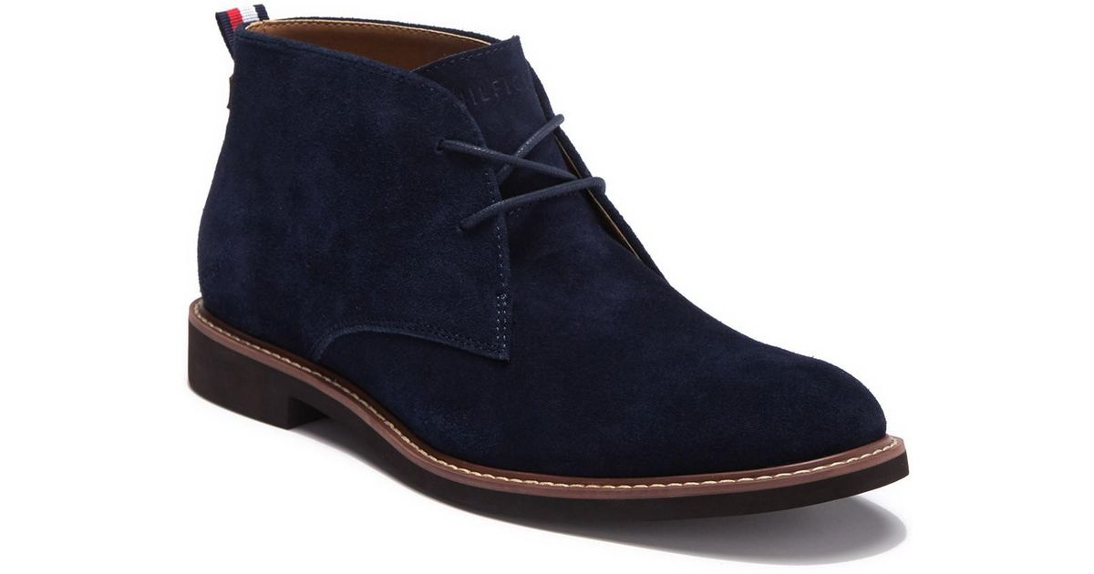 dad1550e8 Lyst - Tommy Hilfiger Gervis Suede Lace-up Boot in Blue for Men
