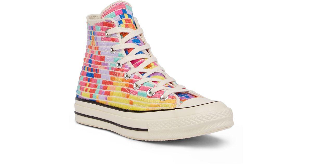 66ff279f2ddb Lyst - Converse Chuck Taylor All Star X Mara Hoffman 70 s High Top Sneaker  in Pink