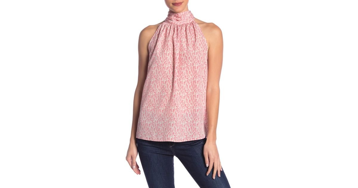 e8253cc63c43f Lyst - Joie Erola Halter Neck Blouse in Pink