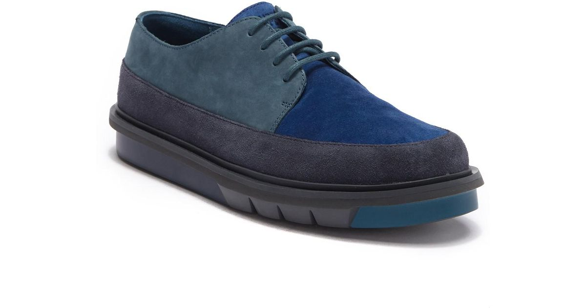 5553428217f Lyst - Camper Mateo Flatform Suede Derby in Blue for Men