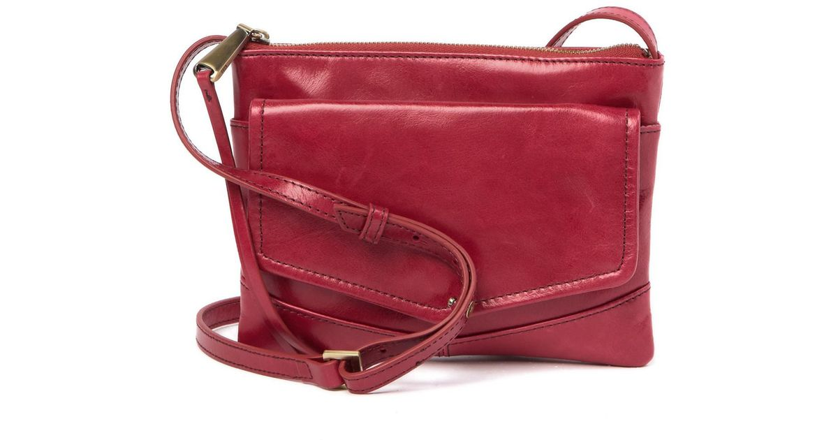 1f1b22094f94 Lyst - Hobo Amble Leather Crossbody Bag in Red