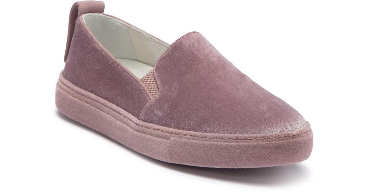 607dee0200d Lyst - Schutz Betiza Velvet Slip-on Sneaker in Pink