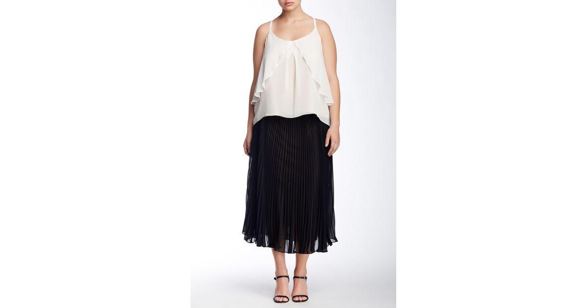 abs by allen schwartz pleated chiffon skirt plus size in