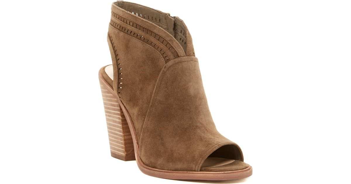 450182b63bb6 Lyst - Vince Camuto  koral  Perforated Open Toe Bootie (women) (nordstrom  Exclusive) in Brown