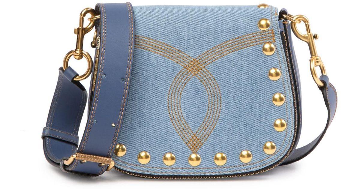 a5eecf8fc887 Lyst - Marc Jacobs Denim Small Nomad Crossbody Bag in Blue