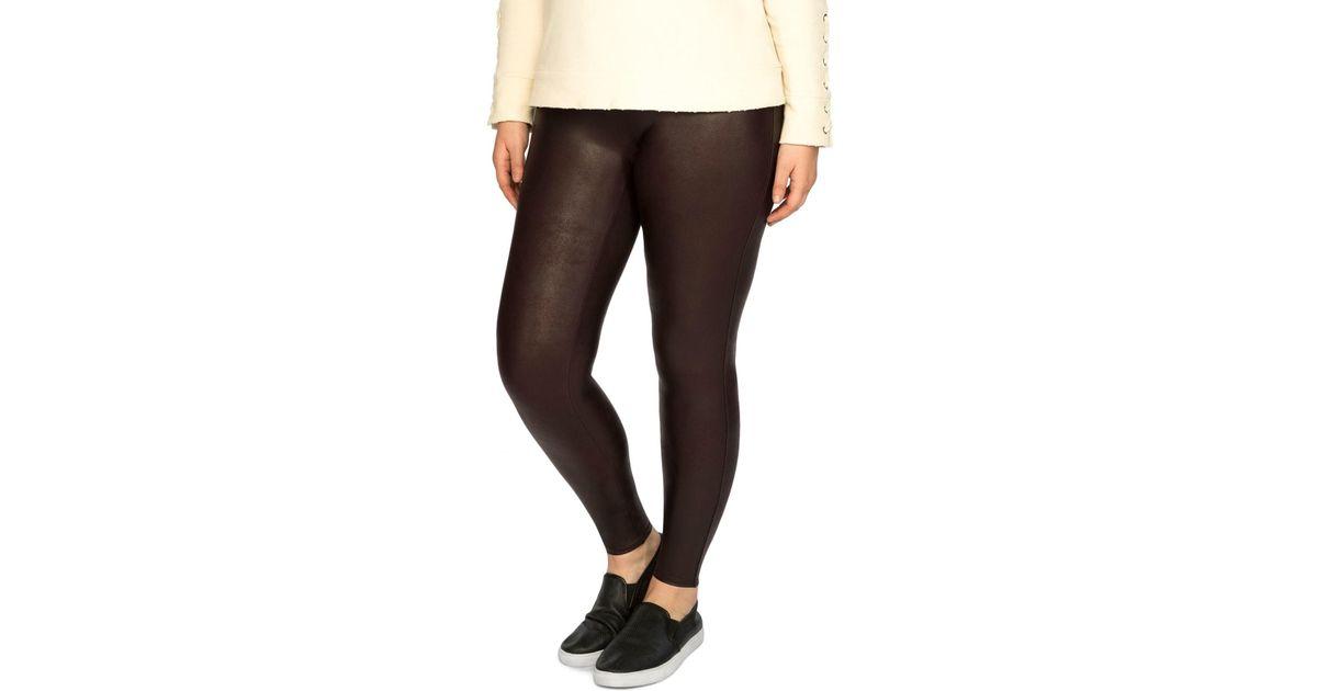 9f74ce4d455d67 Lyst - Spanx Faux Leather Leggings (plus Size) in Black