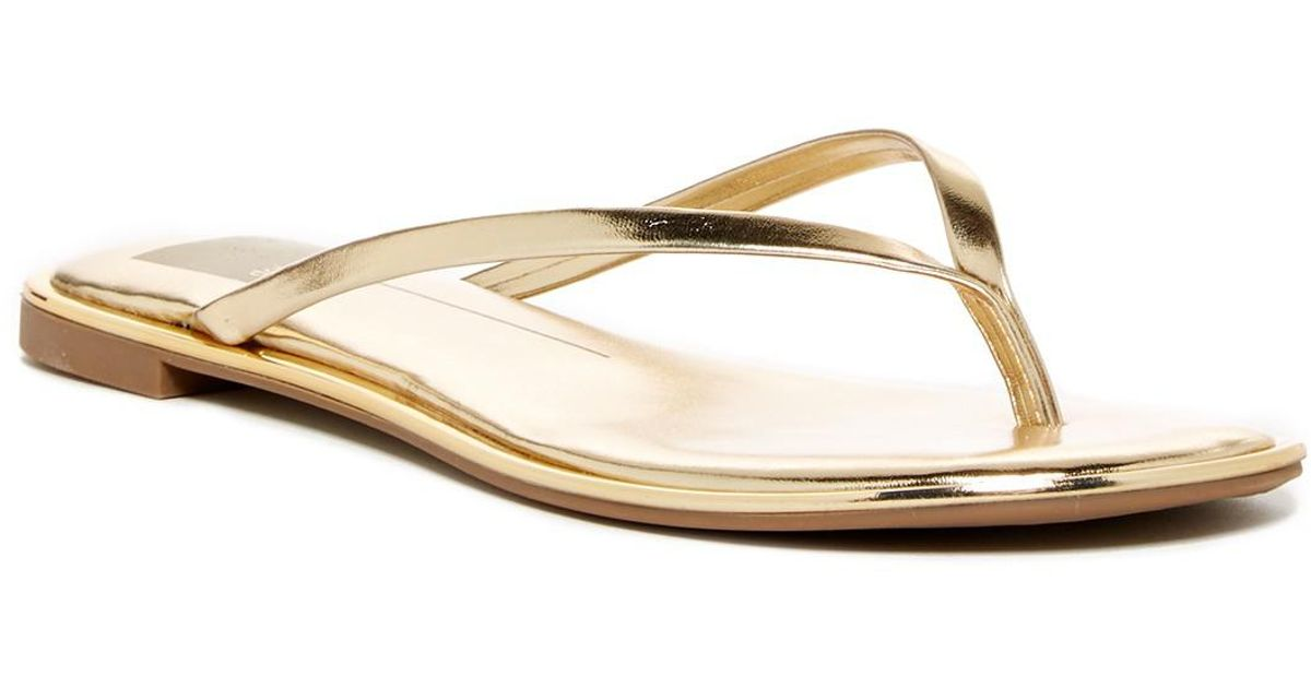 7b1bfbd85075 Lyst - Dolce Vita Dawn Thong Sandal in Metallic