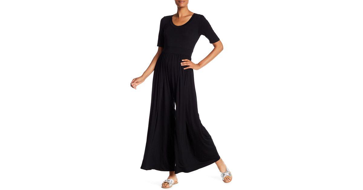 729cec51ca75 Lyst - West Kei Knit Wide Leg Jumpsuit in Black